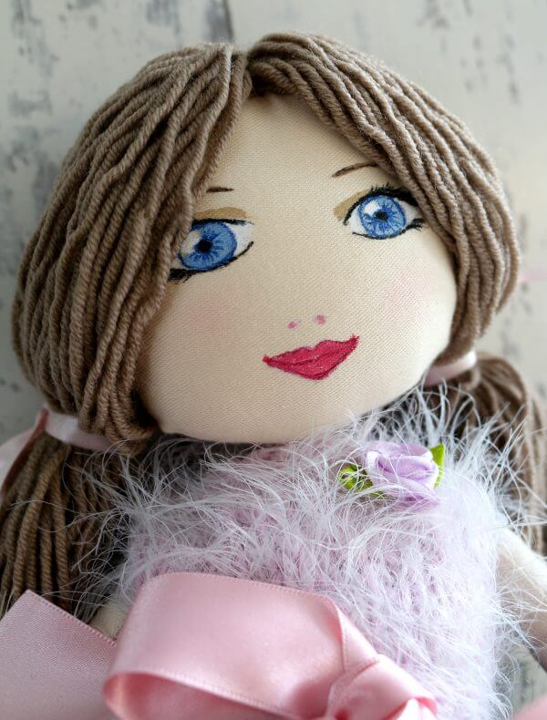 Handmade Ballerina Doll with Tutu Skirt