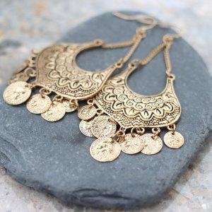 Boho Earrings Antique Gold