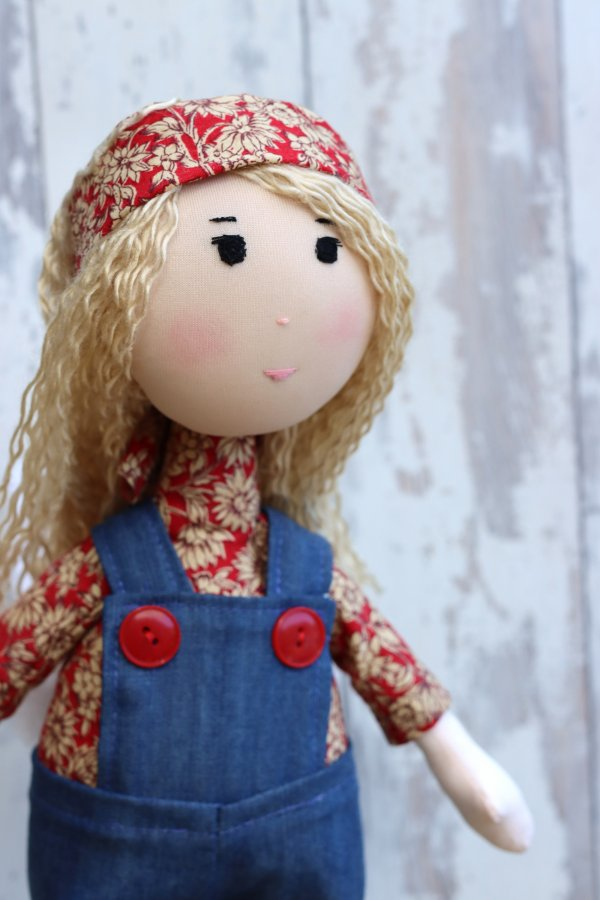 Blond Rag Doll Dungarees Boots