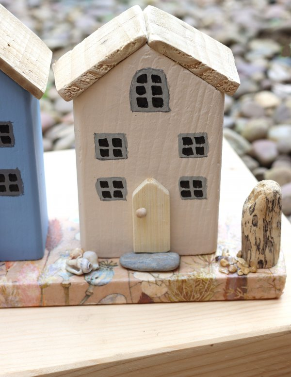 Beach View Wooden Cottages Ornament