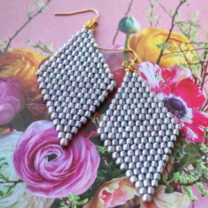 Lavender Beaded Earrings