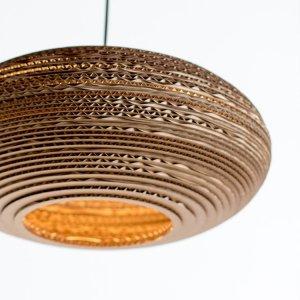 Oval shape cardboard lamp shade
