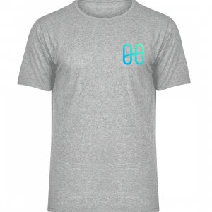 Harmony Front Logo Melange T-shirt - Men Melange Shirt-6807