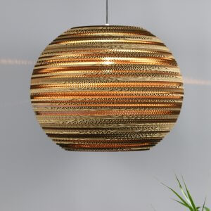 Large Sphere Lamp shade recycled cardboard