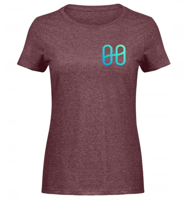 Harmony Ladies Melange T-shirt - Women Melange Shirt-6805
