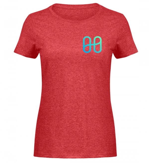Harmony Ladies Melange T-shirt - Women Melange Shirt-6802