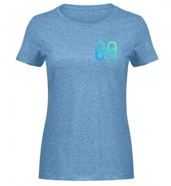 Harmony Ladies Melange T-shirt - Women Melange Shirt-6806