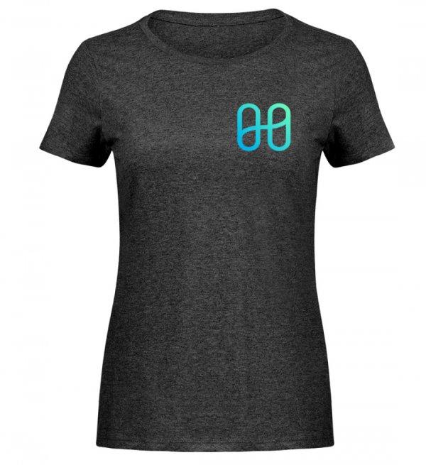 Harmony Ladies Melange T-shirt - Women Melange Shirt-6808